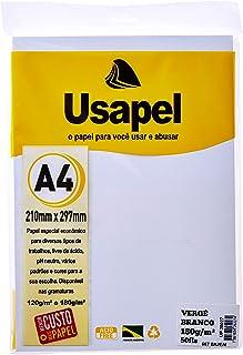 Papel A4 Verge Usapel Branco 180g. - Caixa com 50, Filiperson, 25027, Branca