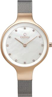 Obaku Sky Rose Bi Mother Of Pearl Dial Watch for Women - V173LXVWMC