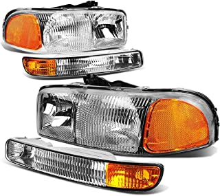 DNAMotoring HL-OEM-SIE99-4P-CH-AM Headlight Assembly, Driver and Passenger Side