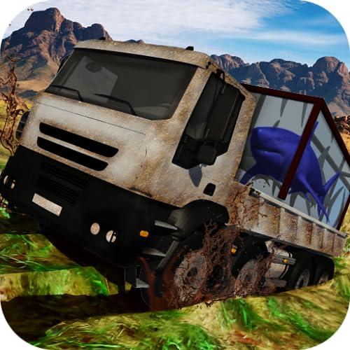 Truck with Shark Simulator 3D