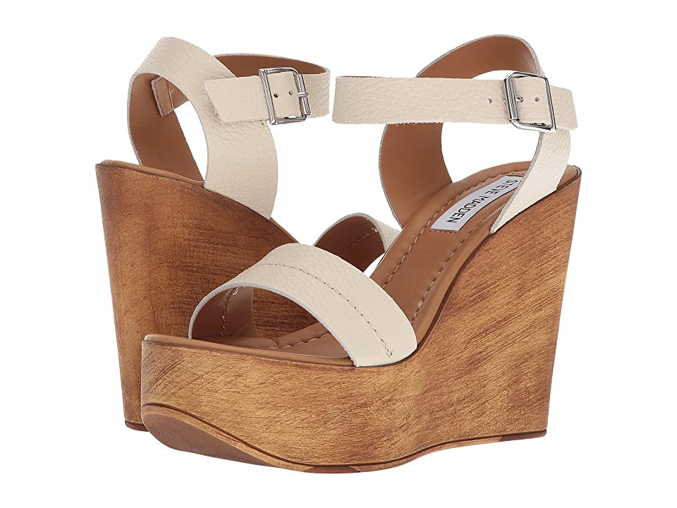 Steve Madden Belma Wedge Sandal (Off-White) Women