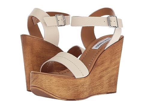 Steve Madden Belma Leather Wedge Sandals ruGo0