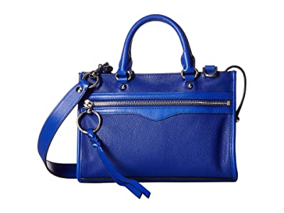 Rebecca Minkoff Micro Bedford Zip Satchel (Bright Blue) Satchel Handbags
