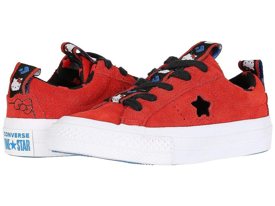 Converse Kids Hello Kitty(r) One Star Ox (Little Kid) (Fiery Red) Girls Shoes