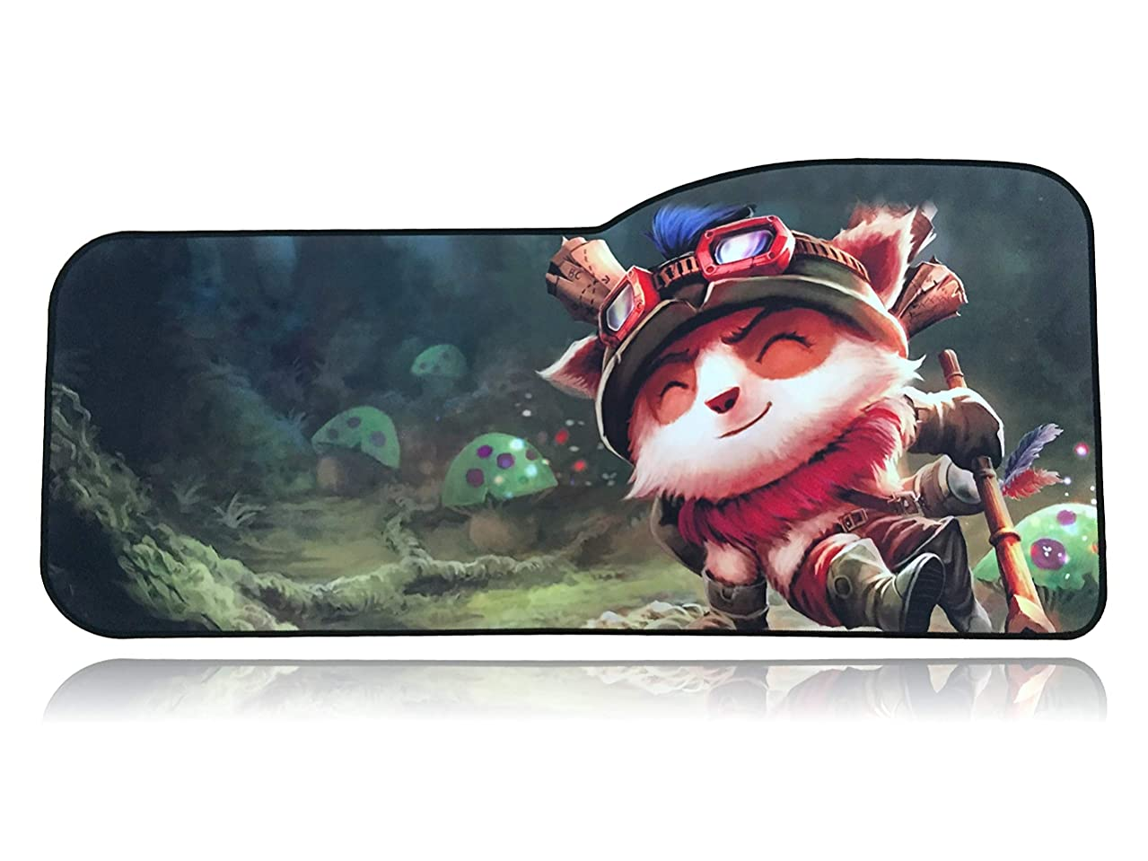 League of Legends Extended Size Custom Professional Gaming Mouse Pad - Anti Slip Rubber Base - Stitched Edges - Large Desk Mat - 28.5