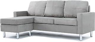 Divano Roma Furniture Modern Sectional, Grey