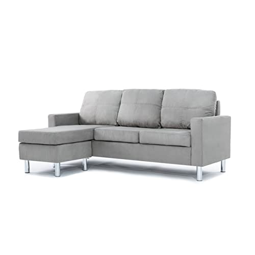 Divano Roma Furniture Modern Sectional, Grey