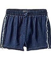Dark Wash Jog Shorts (Big Kids)