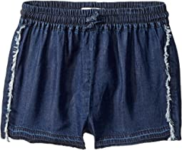 Dark Wash Jog Shorts (Big Kids)