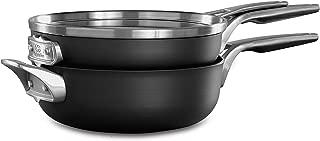 Calphalon 2010653 Premier Space Saving 3-Piece Cookware Set, Black