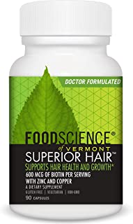 FoodScience of Vermont Superior Hair Growth and Follicle Support, 90 Capsules