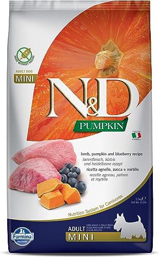 Farmina N&D Pumpkin Dry Dog Food, Grain-Free, Adult Mini Breed, 2.5-kg, Lamb and Blueberry