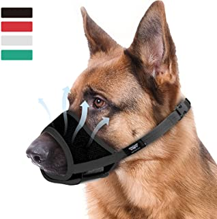 WONDAY Dog Muzzle for Small Medium Large Dogs, Dog Muzzles for Biting Barking and Chewing Puppy Muzzle Nylon Soft Mesh Bre...