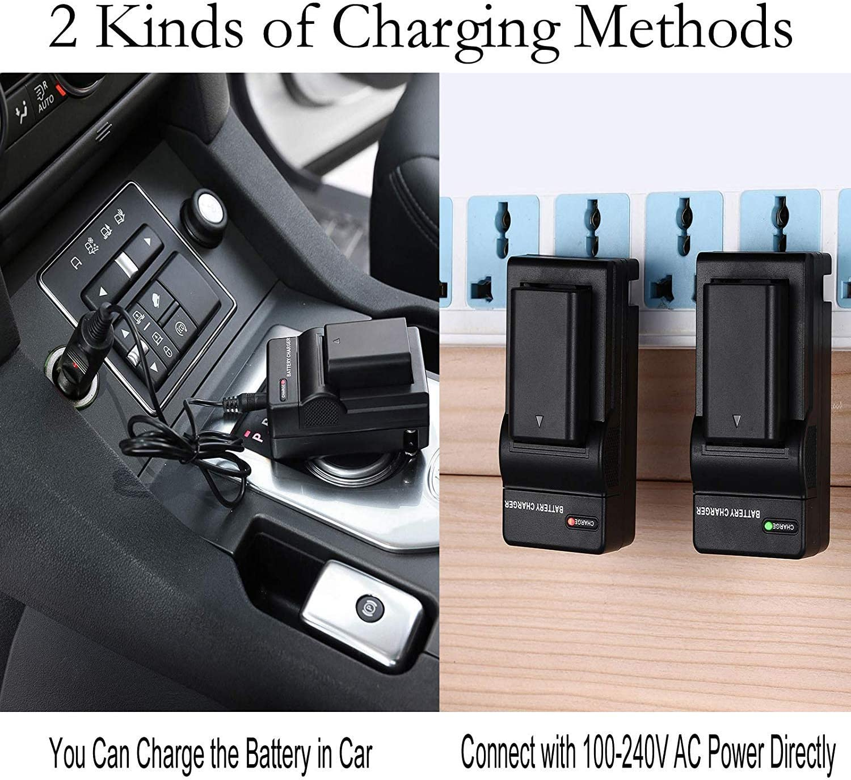 DCR-TRV530E Handycam Camcorder DCR-TRV520E Micro USB Battery Charger for Sony DCR-TRV510E