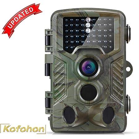 DJLOOKK Wild Trail Camera WiFi App Telecamere da Caccia con Telecomando 20MP 1080P Night Vision Wildlife Photo Traps Cam