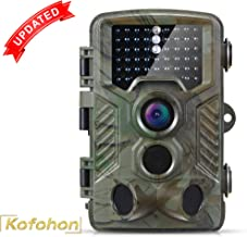 KOFOHON Trail Camera-Game Hunting Cam 16MP/1080P Waterproof 120°Detect Range Night Vision Motion Activated Wildlife Scouting Full HD Cam Monitoring Outdoor 2.4