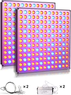 Roleadro LED Grow Lights for Indoor Plants, 75w Plant Lights with Red & Blue Spectrum Grow Lamp for Hydroponic, Seedling, Succulents, Veg and Flower (2 Packs)
