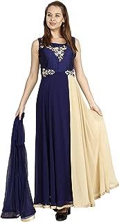 Manmandir Womens Faux Georgette Anarkali Readymade (Salwar Suits for Women)