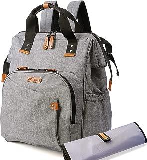 Diaper Bag Backpack - Baby Backpack Diaper Bag, Large Diaper Bag Backpack for Mom Or Dad, Travel Diaper Bags (Grey&Black)