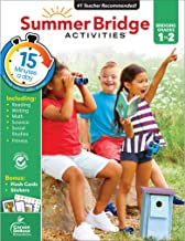 Summer Bridge Activities Workbook―Bridging Grades 1 to 2 in Just 15 Minutes a Day, Reading, Writing, Math, Science, Social Studies, Summer Learning Activity Book With Flash Cards (160 pgs)