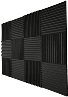Teraves Acoustic Foam Panels-48 Pack Acoustic Panels Soundproofing Studio Foam Sound Proofing Padding for Wall 1