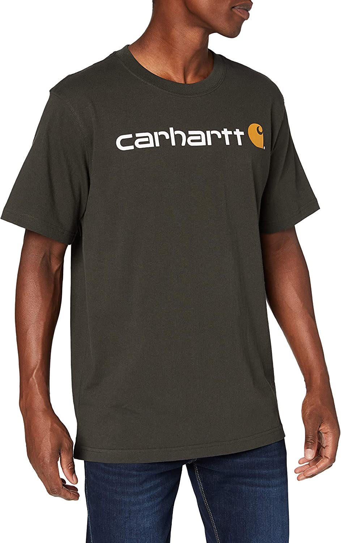 Carhartt Core Logo Workwear Short-Sleeve T-Shirt Camiseta para Hombre