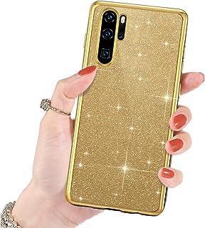Felfy Kompatibel med Huawei 30 Pro fodral, kompatibel med Huawei 30 Pro mobiltelefonfodral glitter TPU silikon bling Spark...