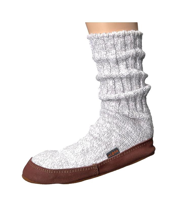 Acorn  Slipper Sock (Light Grey Cotton Twist) Shoes