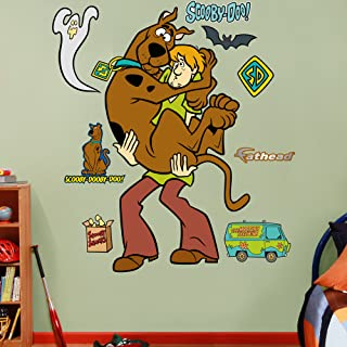 FATHEAD Scooby-Doo and Shaggy-Life-Size Officially Licensed Removable Wall Decal