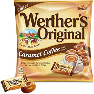 WERTHER'S ORIGINAL Caramel Coffee Hard Candy, 5.5 Ounce Bag (Pack of 12), Bulk..