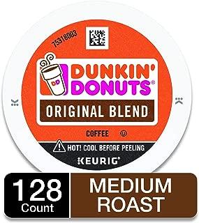 Dunkin' Donuts Original Blend Medium Roast Coffee, 128 K Cups for Keurig Makers