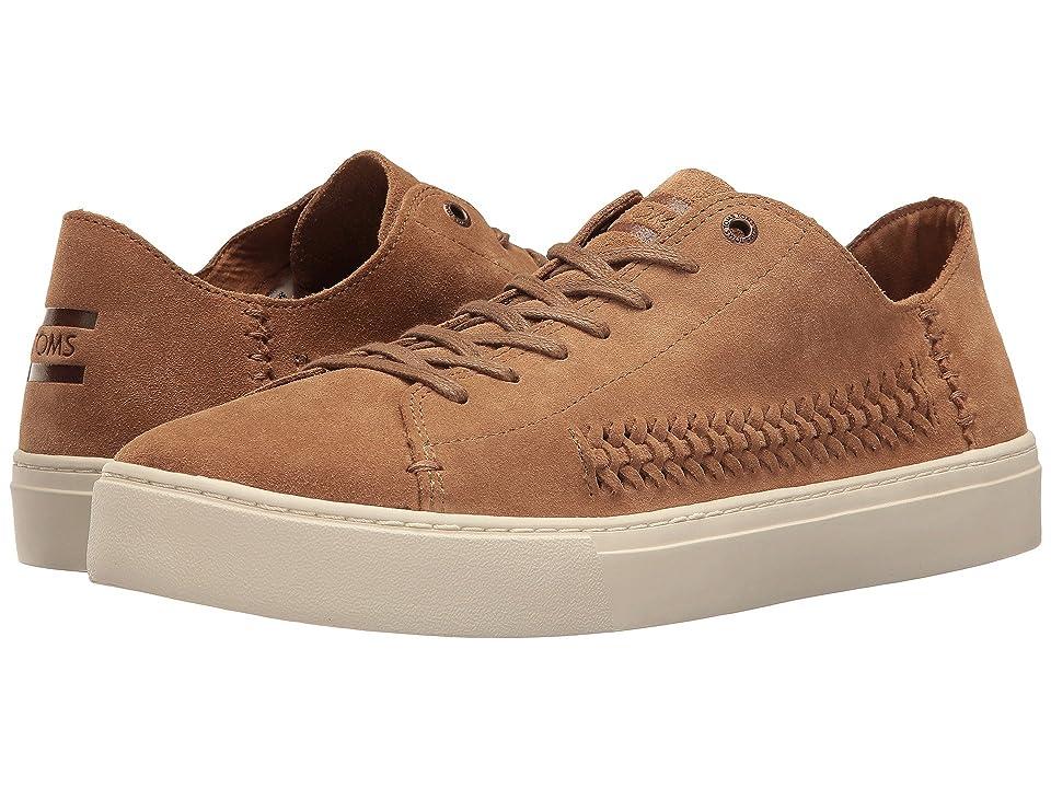 TOMS Lenox Sneaker (Toffee Suede/Woven Panel) Men