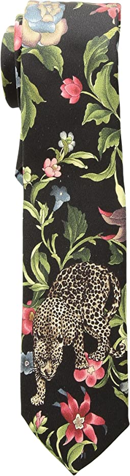Dolce & Gabbana - Leopard and Leaves Tie