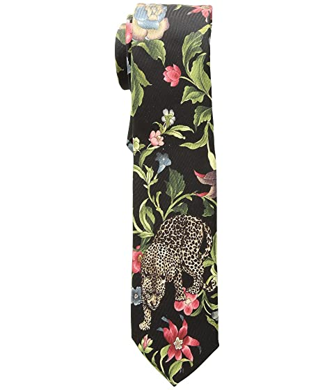 Dolce & Gabbana Leopard and Leaves Tie