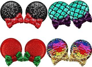 glitter hair clips