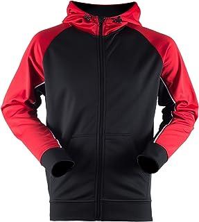 Finden & Hales Mens Moisture Wicking Panelled Sports Hoodie