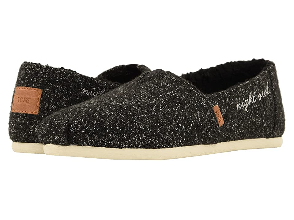 TOMS Alpargata (Black Multicolor Felt/Faux Shearling) Women