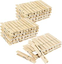 100 Pack Juvale Large Wooden Clothespins (4 x 0.5 Inches)