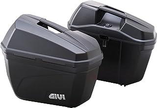 GIVI(ジビ) バイクサイドハードケース(E22N) 容量22L×2 左右セット 未塗装ブラック 90668