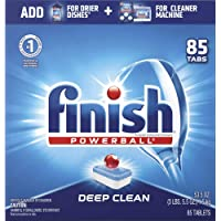 Deals on 2 Finish Powerball All in 85ct Detergent Dishwashing Tablets