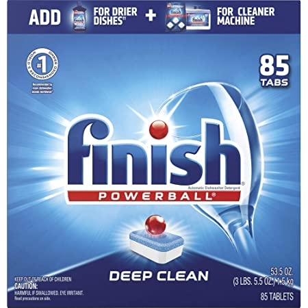 Finish - All in 1-85ct - Dishwasher Detergent - Powerball - Dishwashing Tablets - Dish Tabs - Fresh Scent