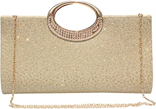 Women Rhinestone Clutch Purse Handbag Crystal Evening Bag Wedding Party Prom Purse.