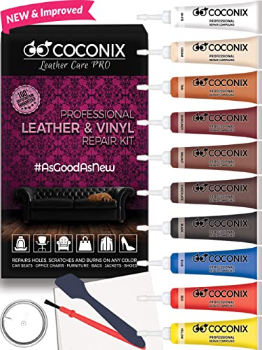 Coconix Vinyl and Leather Repair Kit - Restorer of Your Furniture, Jacket, Sofa, Boat or Car Seat, Super Easy Instruc...