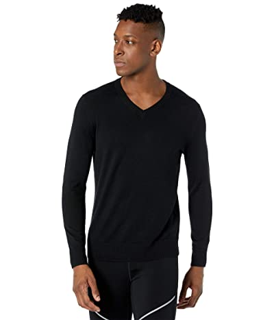Smartwool Sparwood V-Neck Sweater (Black) Men