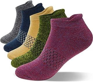 SWOLF Men's Low Cut Athletic Socks, Women Ankle Running Sock Cotton Performance Comfort Cushion Sports Tab Socks (5 pack)