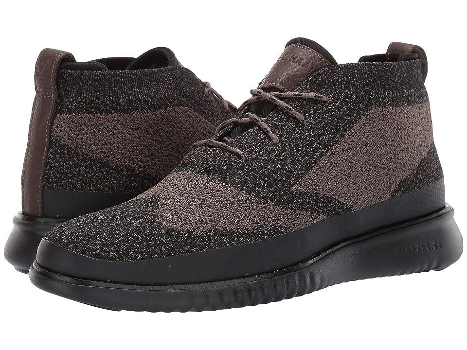 Cole Haan 2.Zerogrand Stitchlite Chukka Water Resistant (Morel Knit/Black) Men