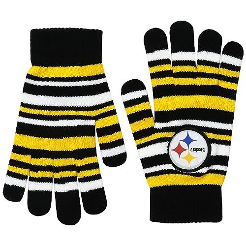 FOCO NFL Unisex Team Logo Stretch Gloves 2bb9249d6