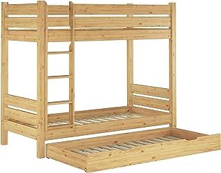 Erst-Holz Letto Castello 90x200 per Bambini divisibile con doghe rigide e cassettone 3/° Letto 60.09-09S7