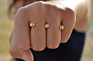 Knuckle duster, Double ring, two finger ring, Double finger ring, Multi Ring, Open ring, Modern open front ring, Boho ring, Unique Rings