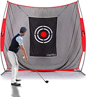 GALILEO Golf Practice Net Driving Range Golf Hitting Nets for Indoor Outdoor with Golf Training Aids (Variety of Options)